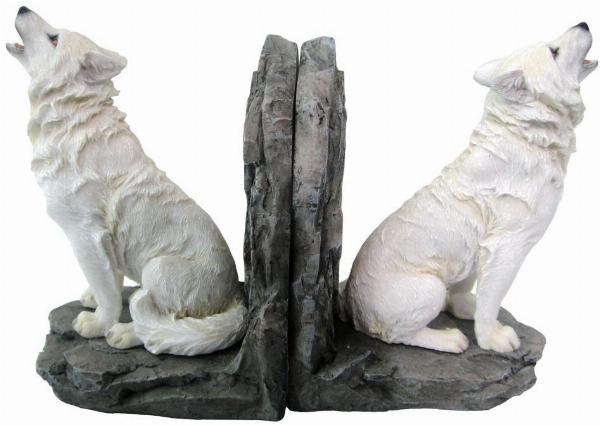 Photo of White Wolf Bookends 20cm