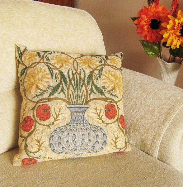 Phot of William Morris Andrew Morris Tapestry Cushion