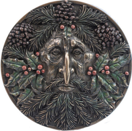 Photo of Winter Green Man Wall Plaque