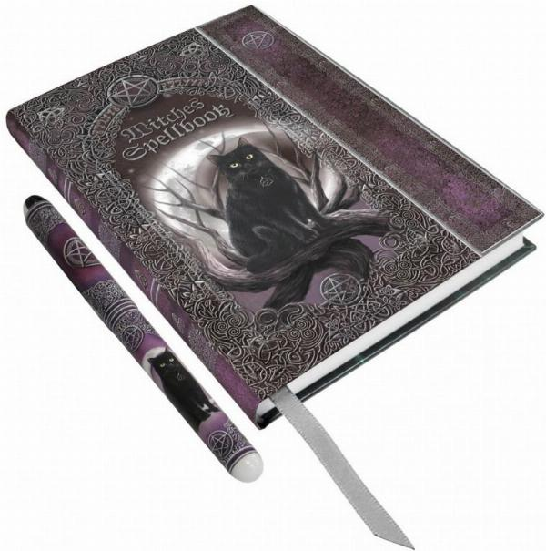 Photo of Witches Spell Book Embossed Journal and Pen 17cm (Luna Lakota)