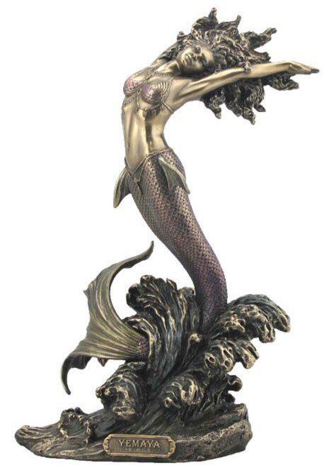 Photo of Yemaya Goddess of Water Bronze Figurine 27cm