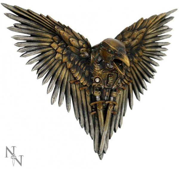 Photo of Blade Raven Wall Plaque Bronze 27 cm