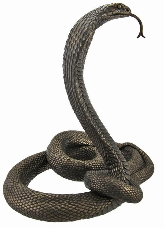 Photo of Cobra Bronze Snake Figurine