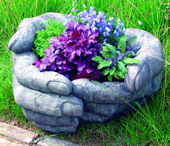 Photo of Cupped Hands Stone Water Feature