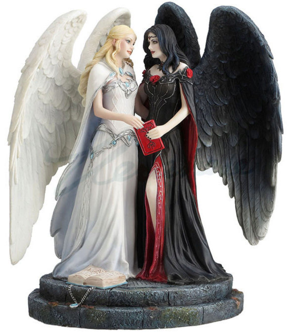 Photo of Dark and Light Angel Figurine (James Ryman)