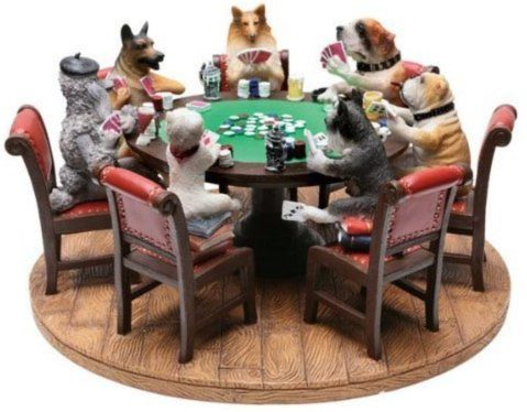 Photo of Dogs Playing Poker Figurine Fantastic Detail