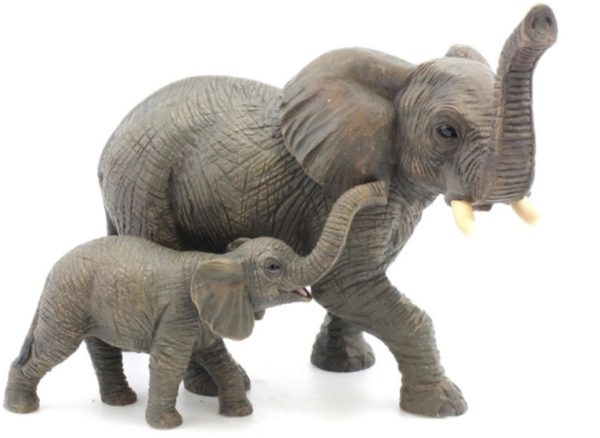Photo of Elephant and Calf Figurine Leonardo Collection