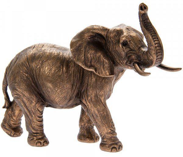 Photo of Elephant Bronze Figurine Leonardo Collection
