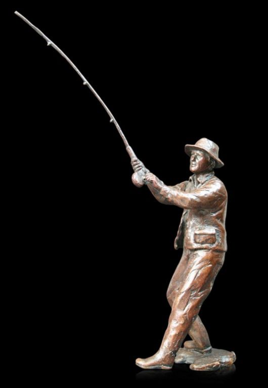 Photo of Fly Fishing Bronze Figurine (Limited Edition) Michael Simpson
