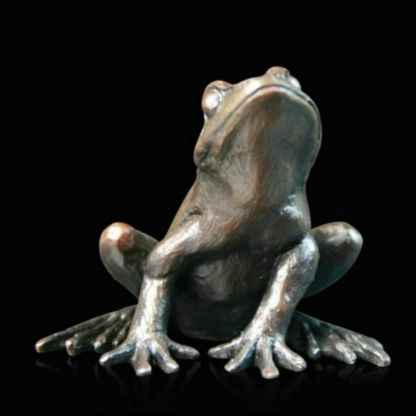 Photo of Frog Alert Bronze Figurine (Limited Edition) Keith Sherwin