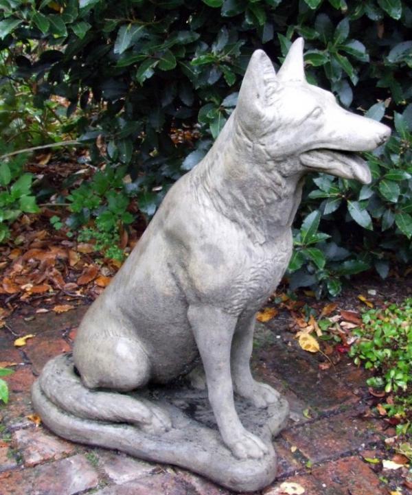 Photo of German Shepherd Dog Stone Statue