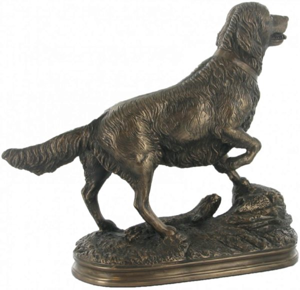 Photo of Golden Retriever Bronze Figurine