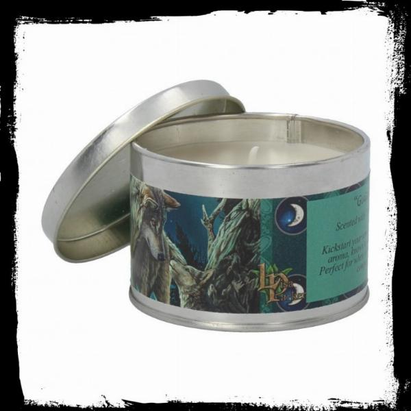 Photo of Guidance Tin Scented Candle - Rose Geranium (Lisa Parker Wolf Artwork)