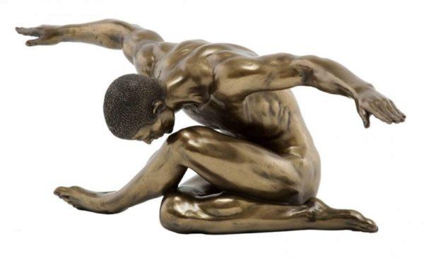 Photo of Harmony Nude Male Bronze Figurine 44 cm