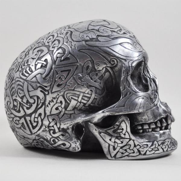 Photo of Heavyweight Celtic Skull Gun Metal Finish Large