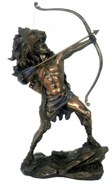 Photo of Heracles Shooting Arrow Bronze Figurine