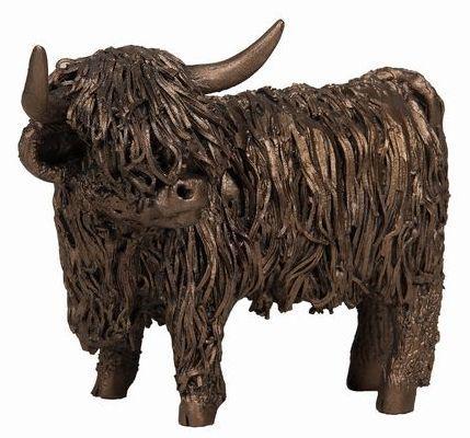 Photo of Highland Cow Standing Bronze Sculpture
