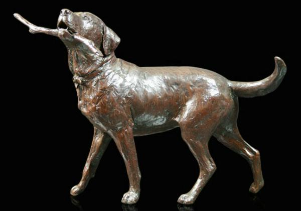 Photo of Large Labrador Country Walk Bronze Figurine (Limited Edition) Michael Simpson