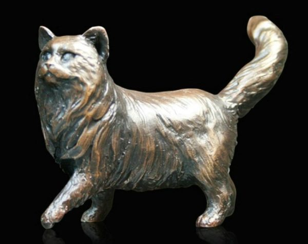 Photo of Long Haired Cat Figurine Standing (Limited Edition) Michael Simpson