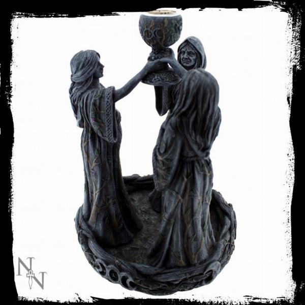 Photo of Maiden Mother and Crone Backflow Incense Burner 18cm