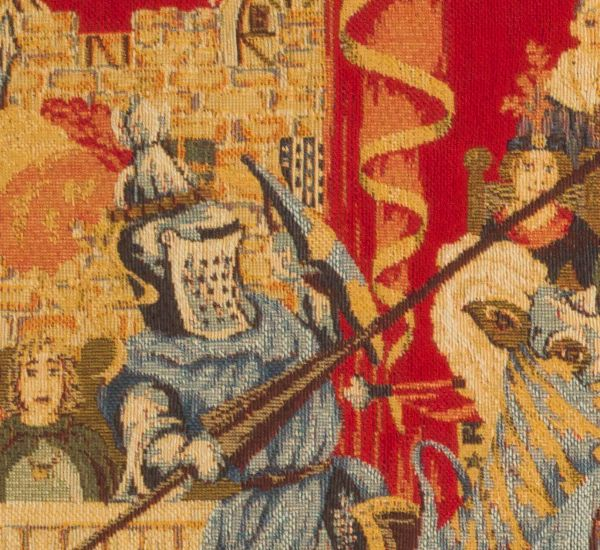 Phot of Medieval Jousting Wall Tapestry