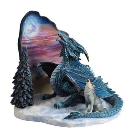 Photo of Moonsong Dragon and Wolf Figurine (Ed Beard Jr) 23cm