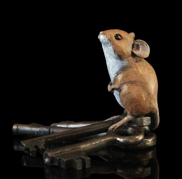Photo of Mouse on Keys Bronze Figurine Michael Simpson