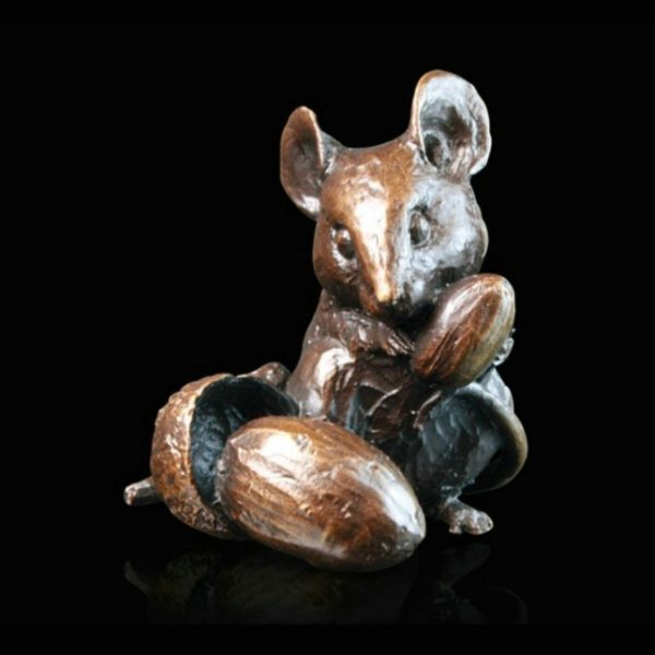 Photo of Mouse with Acorns Bronze Figurine (Limited Edition) Michael Simpson