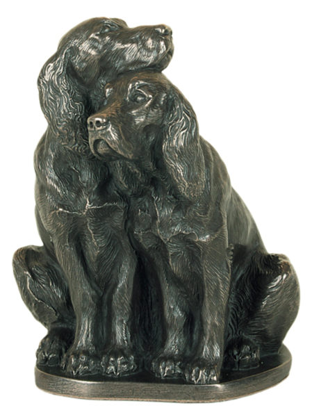 Photo of Pair of Spaniels Bronze Ornament