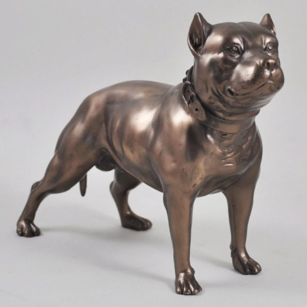 Photo of Pit Bull Terrier Bronze Figurine