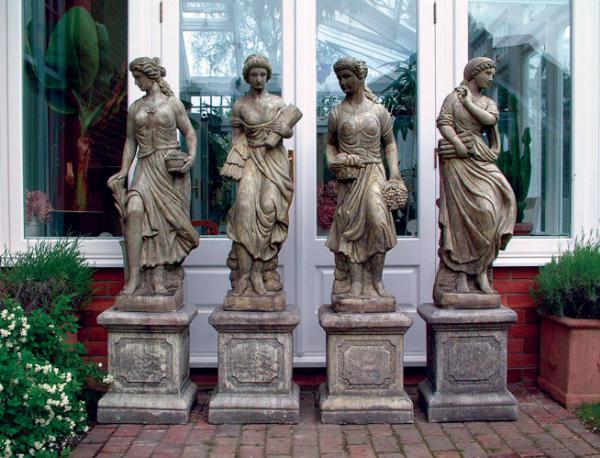 Photo of Set of 4 Maidens Stone Statues (Seasons)