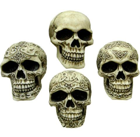 Photo of Sinister Smiles (Pack of 4 Skulls) 7 cm