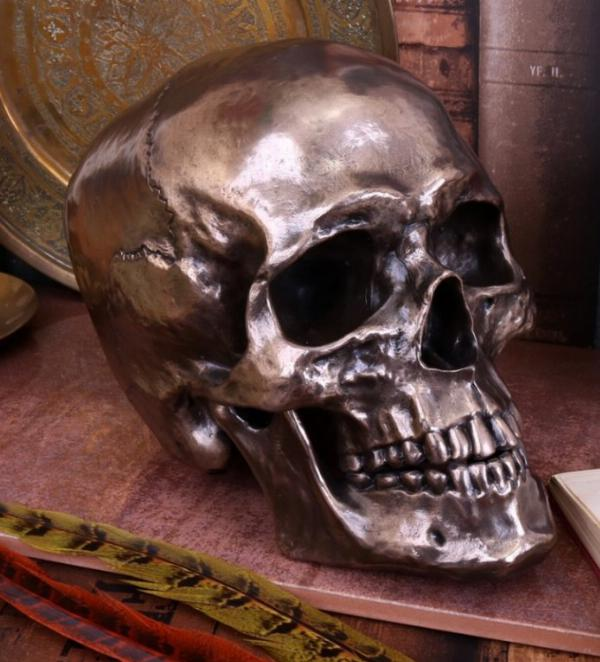 Photo of Skull with Movable Jaw Bronze Heavyweight Ornament