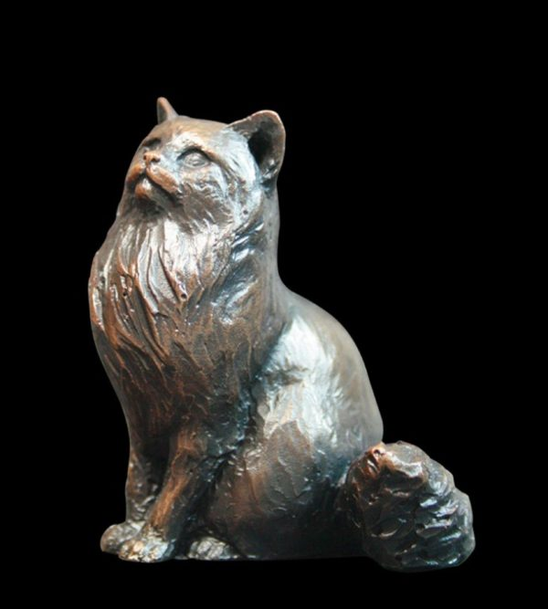 Photo of Small Long Haired Cat Figurine (Limited Edition) Michael Simpson