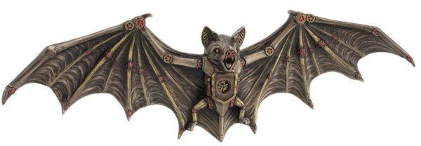 Photo of Steampunk Bat Bronze Wall Plaque Figurine 34 cm