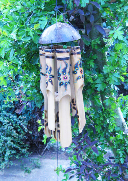 Photo of Sunburst Bamboo Wind Chime with Coconut Top