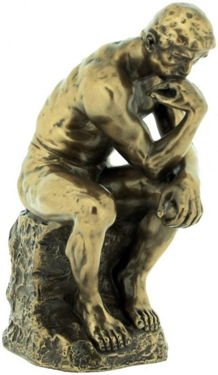 Photo of The Thinker Bronze Figurine 15cm Rodin
