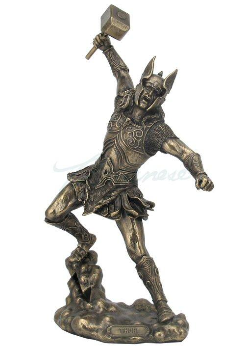 Photo of Thor Bronze Figurine 32 cm