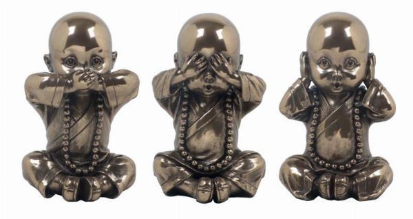 Photo of Three Wise Monks Buddha Bronze Ornaments