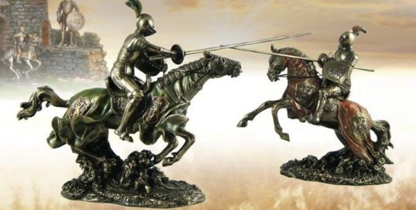 Photo of Tournament Knight with Lance Figurine