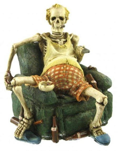 Photo of Unemployed Skeleton Figurine