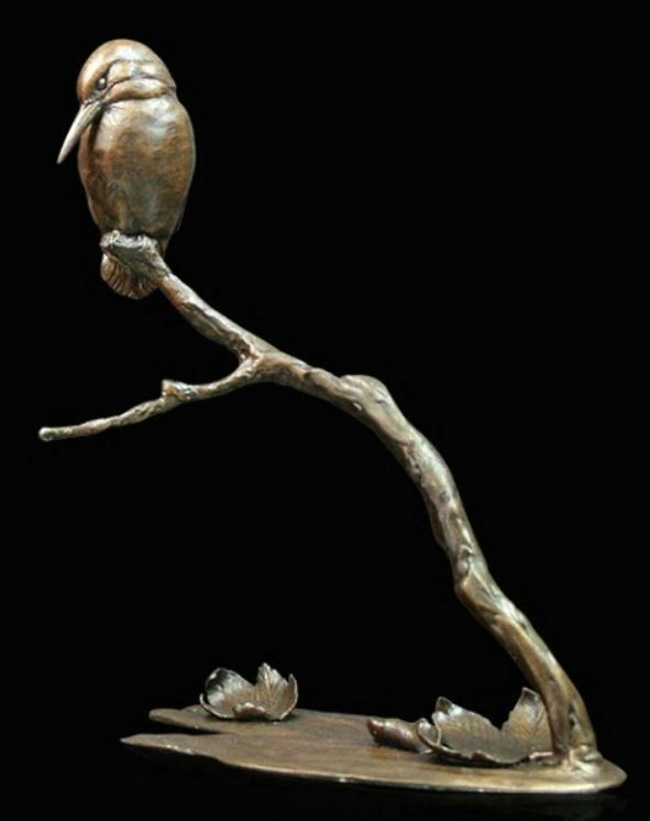 Photo of Autumn Breeze Kingfisher Bronze Figurine (Limited Edition) Michael Simpson
