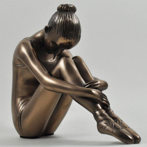 Photo of Ballerina Sitting Bronze Figurine