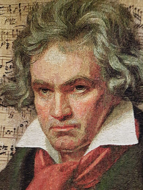 Phot of Beethoven Composer Tapestry Cushion