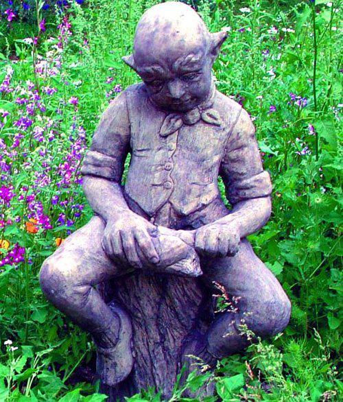 Photo of Cobbler Goblin Stone Garden Sculpture