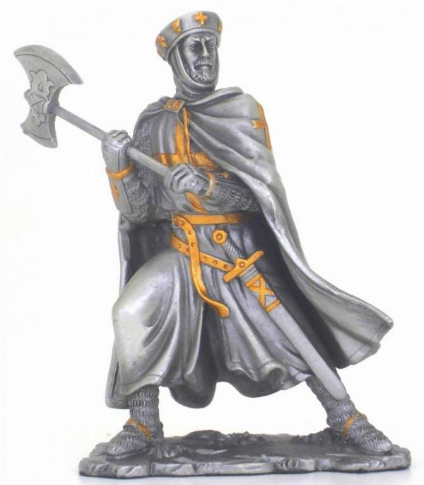 Photo of Crusader with Axe Pewter Figurine