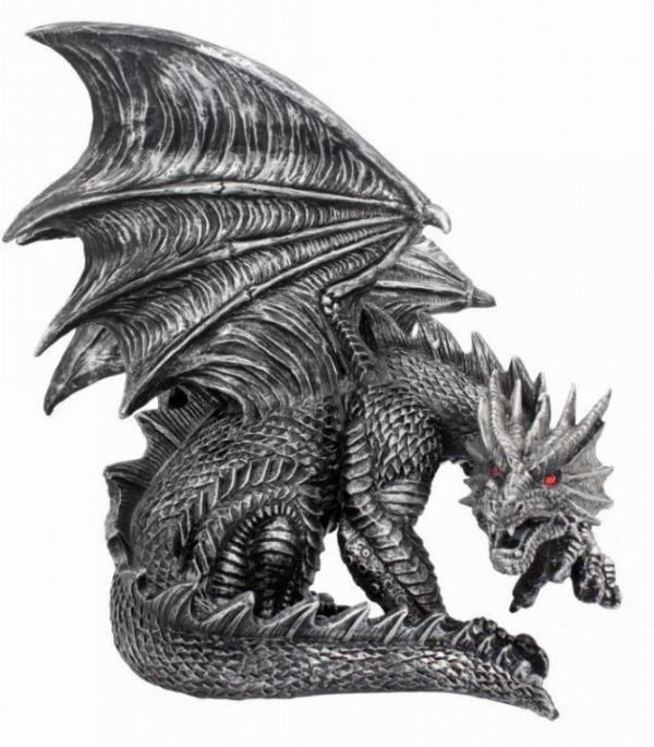 Photo of Draxus Black Dragon Figurine 25 cm