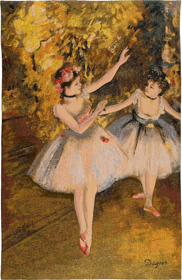 Phot of Edgar Degas 2 Dancers On The Stage Wall Tapestry