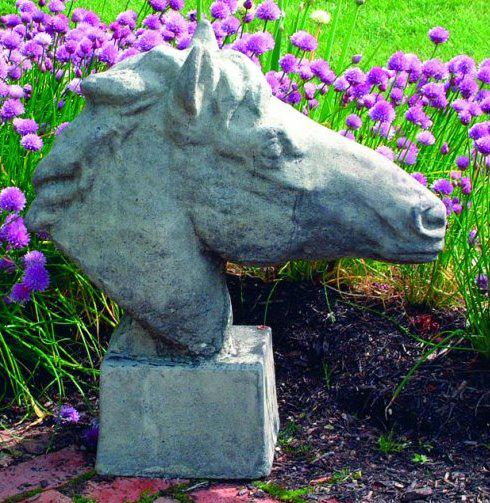 Photo of Equine Bust Stone Sculpture