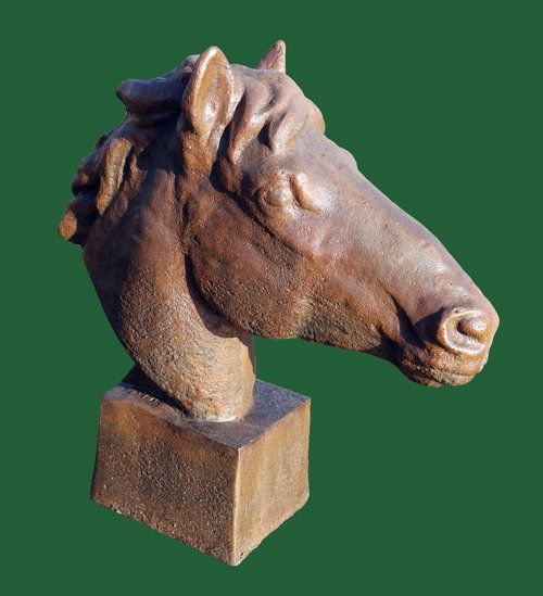 Phot of Equine Bust Stone Sculpture